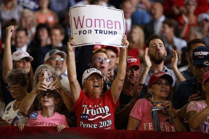 Women are trying to rescue Trump's election chances