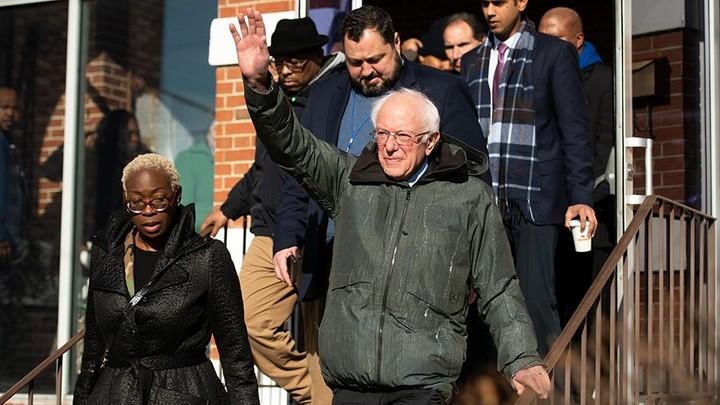 Bernie a front-runner in Iowa
