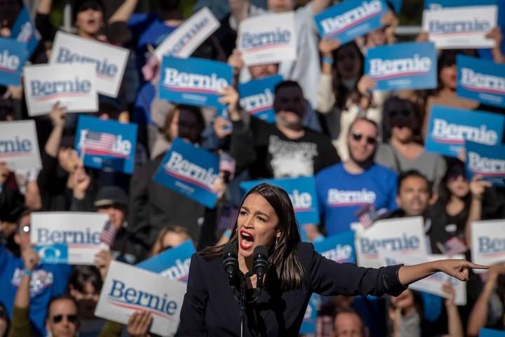 Alexandria Ocasio-Cortez supports Bernie