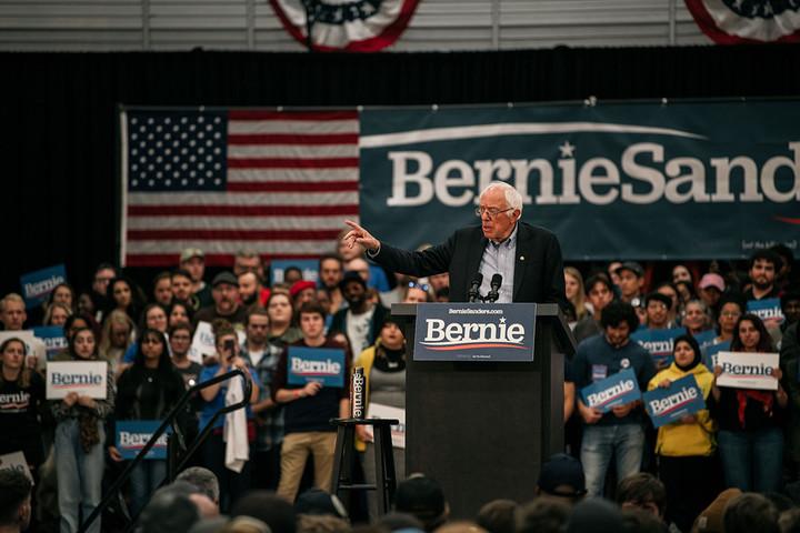 Sanders leads