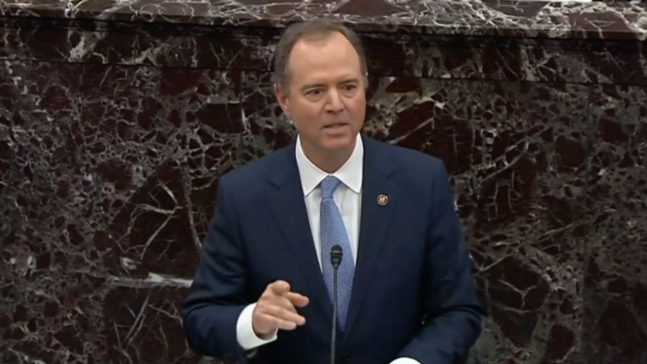 Schiff's emotional appeal to remove Trump