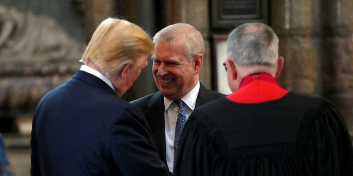 Did Trump know prince Andrew? (check the photos)