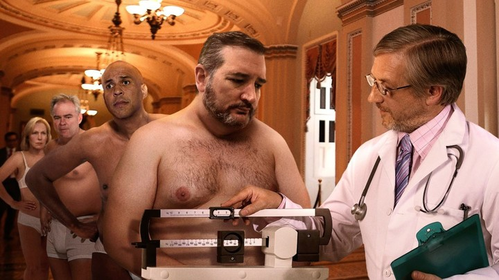 Underwear-Clad Senators Line Up Before Congressional Doctor To Make Sure They Physically Fit For Impeachment