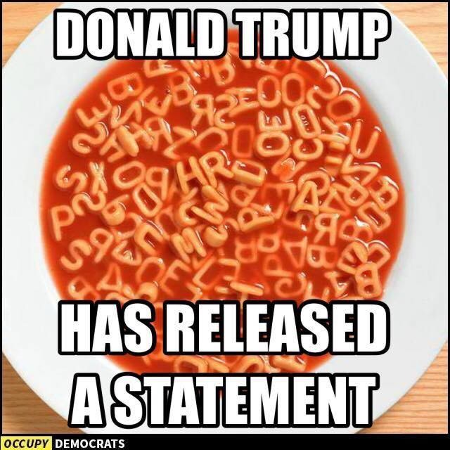 Trump has released a statement