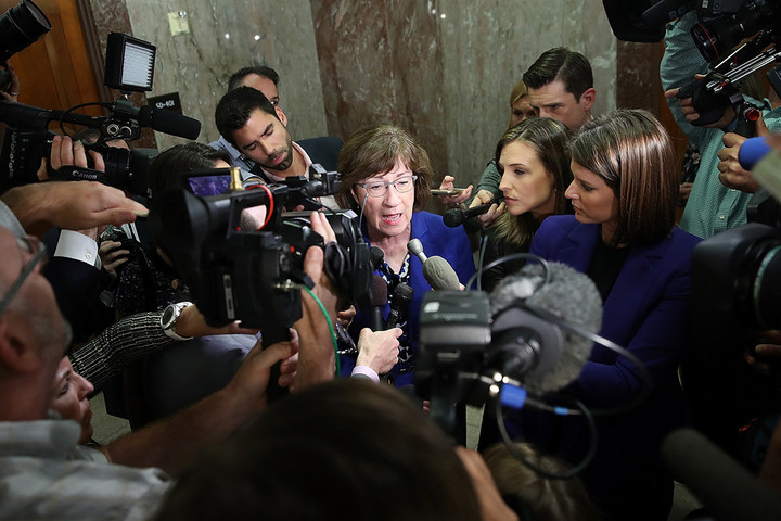 Susan Collins, moderate Senate Republican, under rising pressure