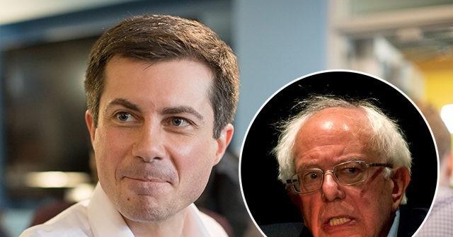 Sanders leading in votes and Buttigieg in delegates
