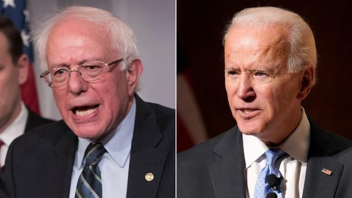 Biden swipes at Bernie
