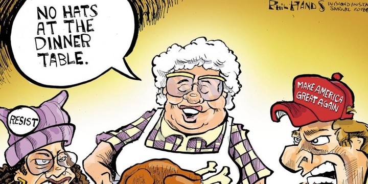 Cartoons about Thanksgiving and politics