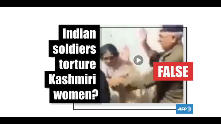 It is not Indian soldiers torturing Kashmiri women in this video