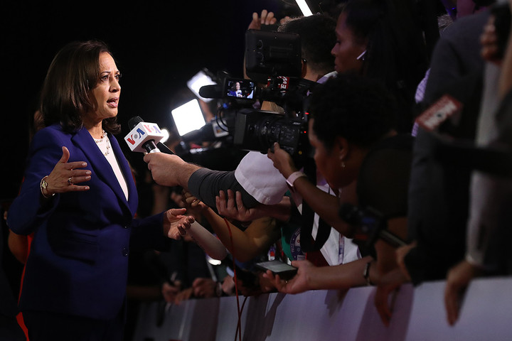 Harris and the Dems protested Trump's justice award