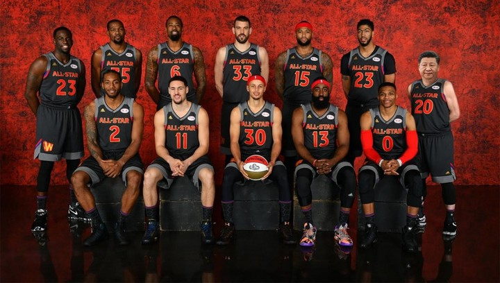 President Xi in NBA All-Star team