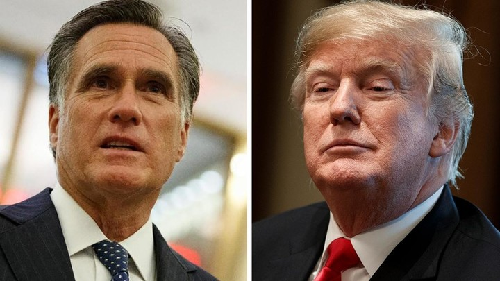 Trump mocks Dems and slams Romney