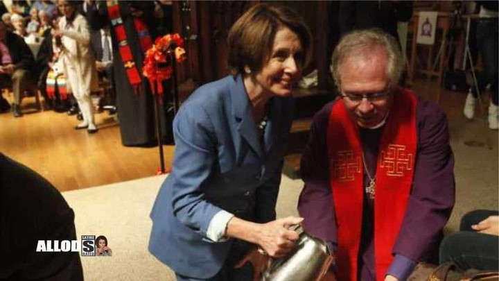 Remember when Pelosi was thrown out of church for drinking straight vodka?
