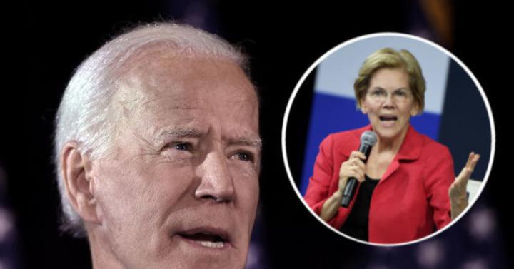 Biden takes a dig at Warren