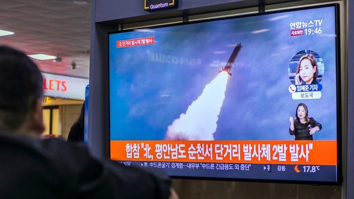 North Korea launches two missiles, pressuring Trump