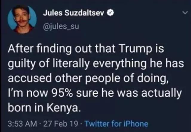Trump was born in Kenya