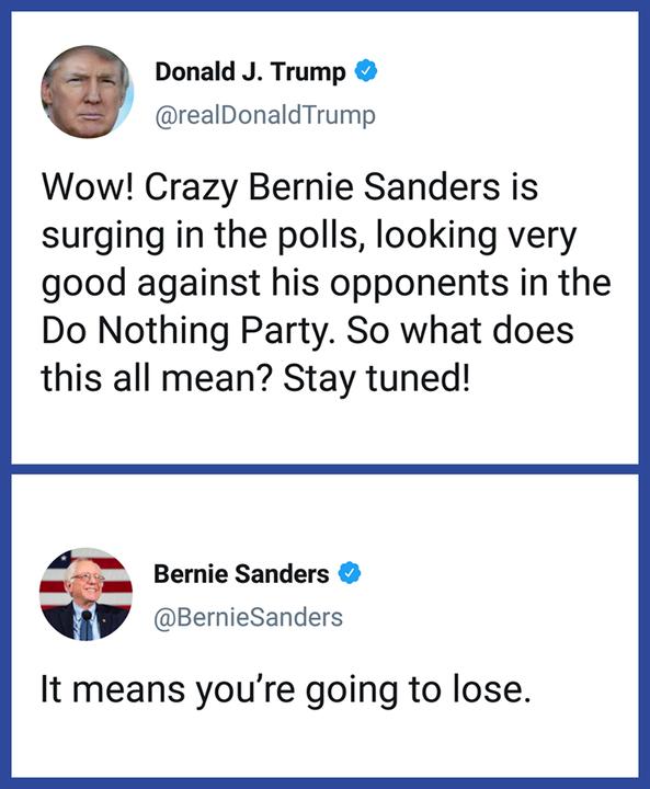 Way to go Bernie!