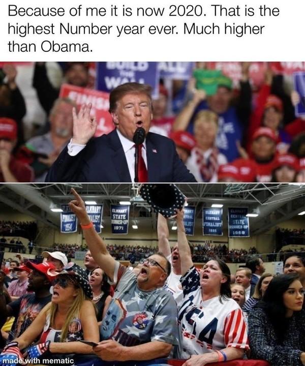 All hail Trump..it is 2020!