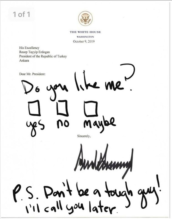 Trump's real letter to Erdogan