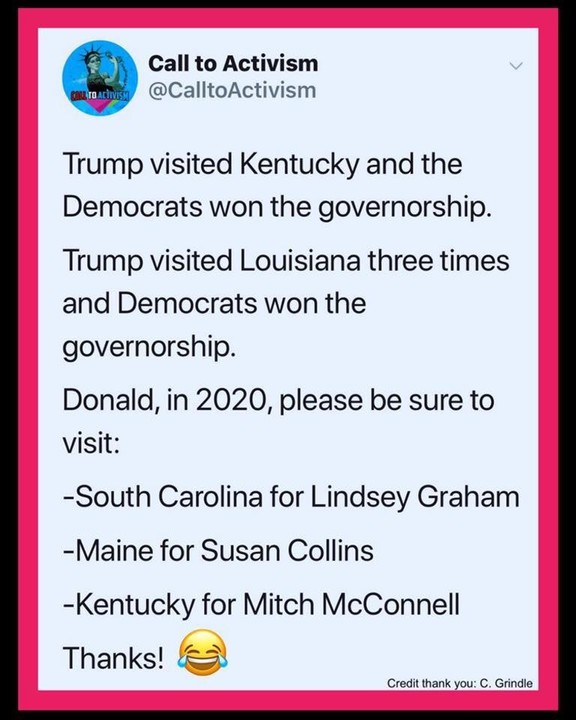 Which other states should Trump visit?
