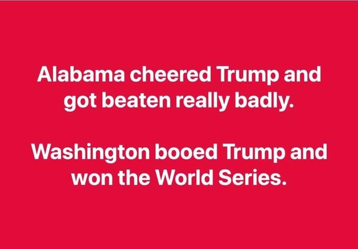 Cheering Trump