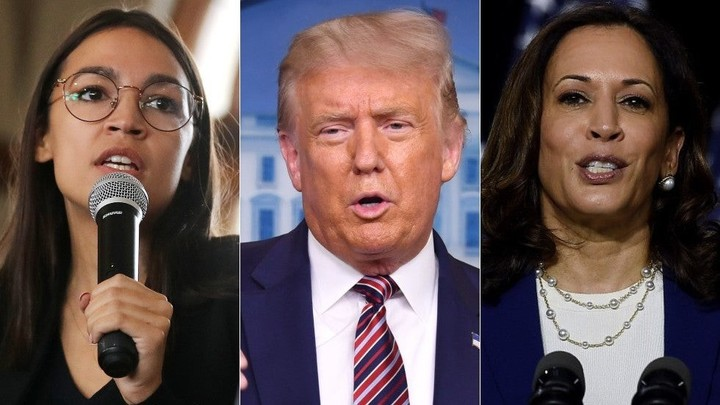 Trump hurls insults at Harris, Ocasio-Cortez and other women