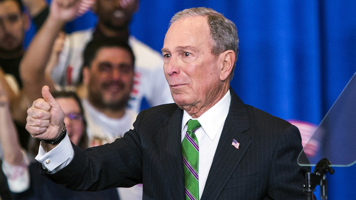 Bloomberg giving Democratic Party his campaign money