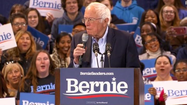 Sanders' reaction to Biden's win