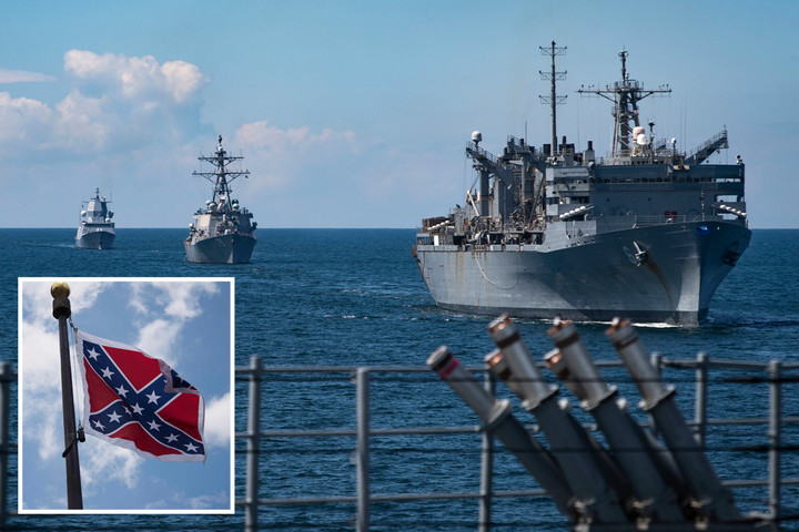 Navy to order Confederate flag BANNED as unrest continues in wake of Floyd death