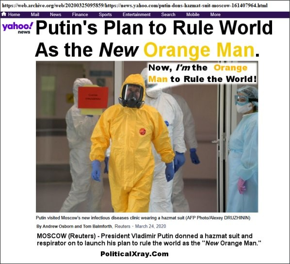 Putin to Defeat Corona-Virus to Rule World as New Orange Man
