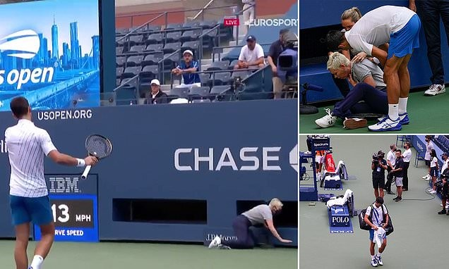 Novak Djokovic DISQUALIFIED from US Open for hitting a ball at a judge