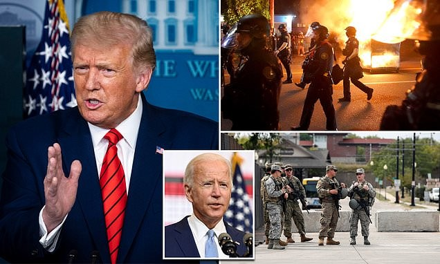 Trump attacks Democrats for riots: Portland is 'entirely ablaze'