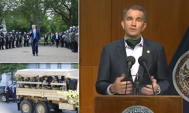 Virginia governor REFUSED to send his National Guard to Washington DC