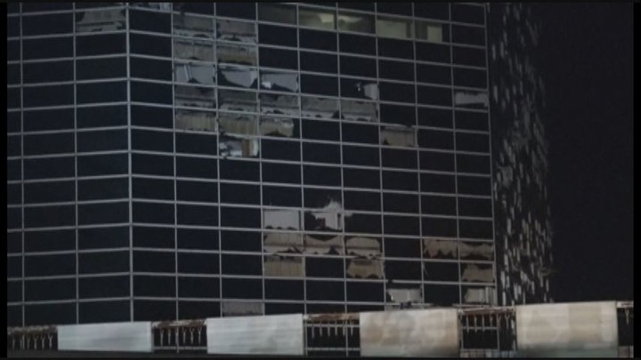 Videos capture damaging winds as iconic Lake Charles buildings are torn apart overnight