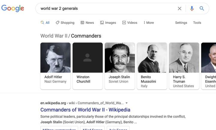 Winston Churchill's picture mysteriously vanishes from Google