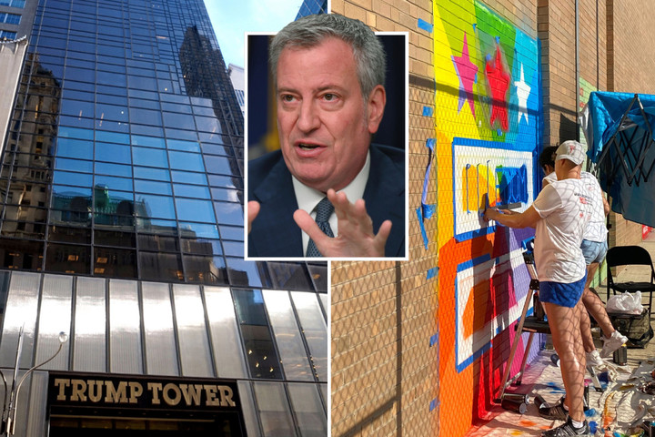 De Blasio 'wants huge BLM mural outside Trump Tower' to 'antagonize' POTUS