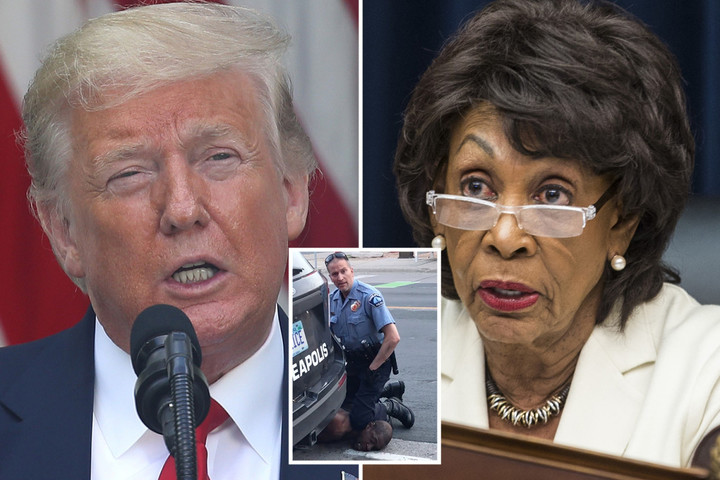 Maxine Waters blames Trump for 'cops killing black people' and says cop who knelt on George Floyd 'enjoyed doing it'