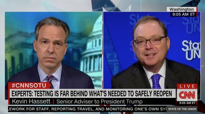 Trump Economic Adviser Kevin Hassett: 'There Is No Downside' Implementing a National Coronavirus Tracing System