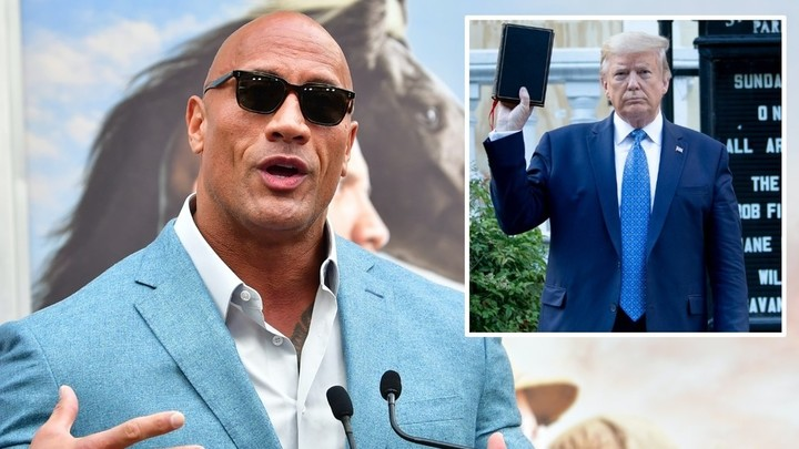 'The Rock for president!' Dwayne Johnson reignites calls for US leadership run as Hollywood superstar HAMMERS Donald Trump (VIDEO)