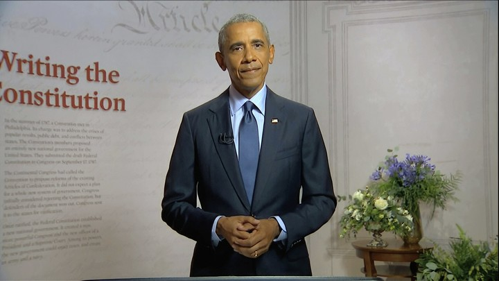 Obama, in scathing Trump rebuke, warns democracy on the line