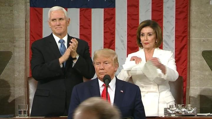 Pelosi defends her decision to rip up Trump's SOTU address