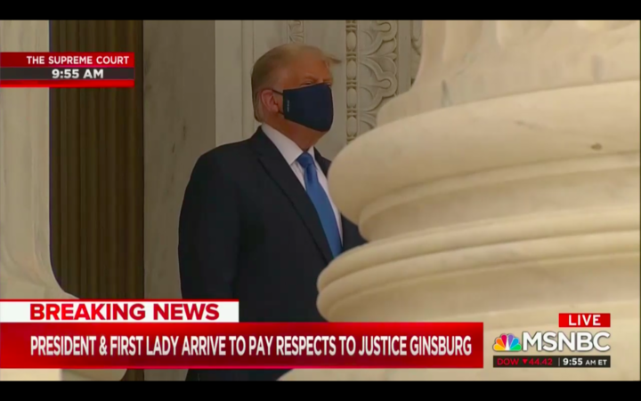 WATCH: Trump Gets Loudly Booed While Paying Respects to Ruth Bader Ginsburg