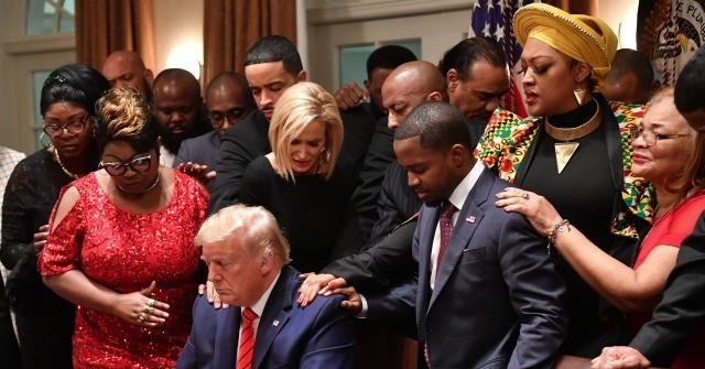 Black leaders pray for Trump