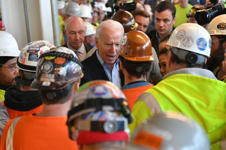 Joe Biden tells factory worker 'you're full of s---' during a tense argument over guns