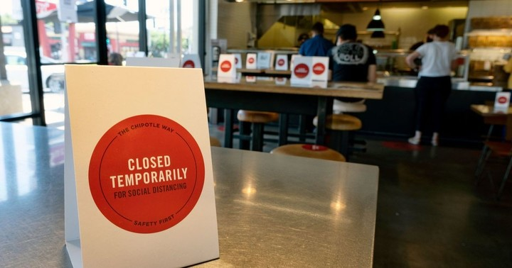 Yelp says more than half of restaurants temporarily closed are now permanently shuttered