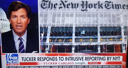 Tucker Carlson Returns From Vacation To Go To War With New York Times; No Mention Of Sexual Harassment Suit & Ex-Writer's Racist Posts
