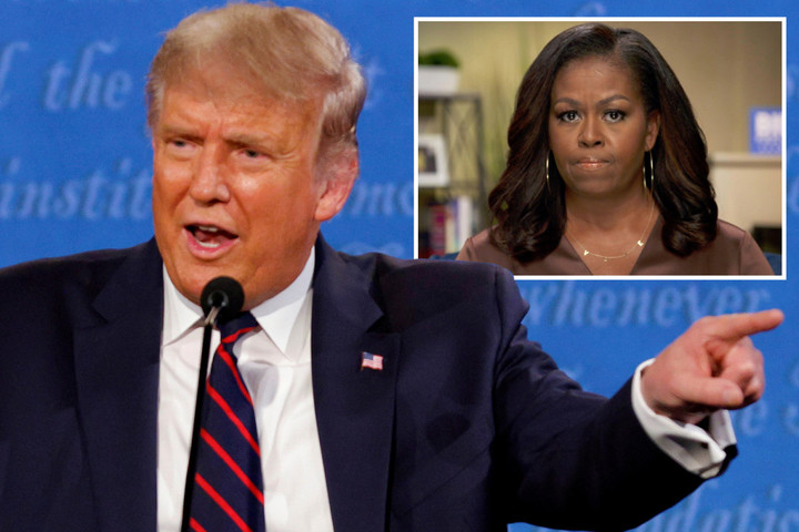 Michelle Obama claims Trump's debate demeanor was plan to get US 'tuning out'