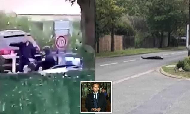 Gunman 'shouting Allahu Akbar' BEHEADS a man in northern Paris