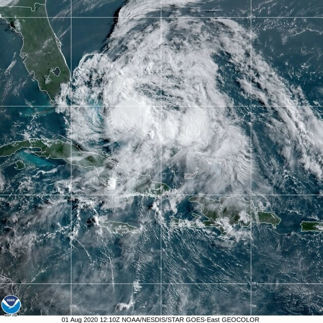 Isaias weakens to tropical storm but expected to be hurricane again as it approaches Florida