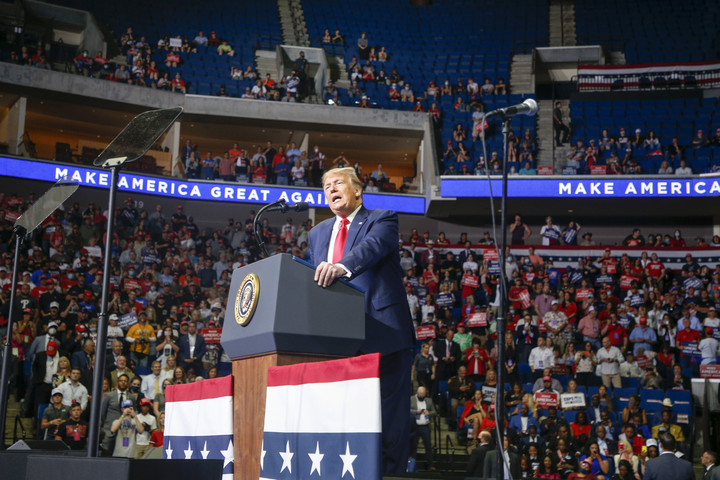 Trump elicits backlash over racist language, rallying cry for supporters